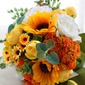 Refined Free-Form Satin/Artificial Silk Bridal Bouquets -
