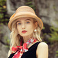 Ladies' Charming/Hottest Cambric/Wheat Straw With Bowknot Straw Hats/Beach/Sun Hats/Kentucky Derby Hats