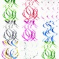 Simple/Classic/Nice Pretty PVC Wedding Ornaments (set of 5)
