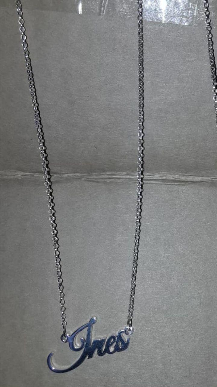 Personlig sølv Brev Navn Halskjede - Bursdagsgaver