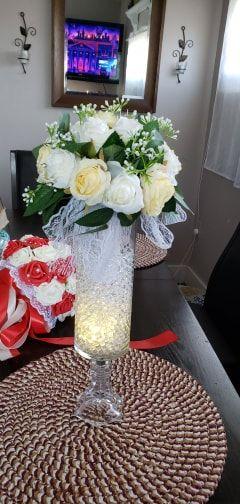Attaché à la main Satiné Bouquets de mariée/Bouquets de demoiselle d'honneur (vendu en une seule pièce) - (123170905)