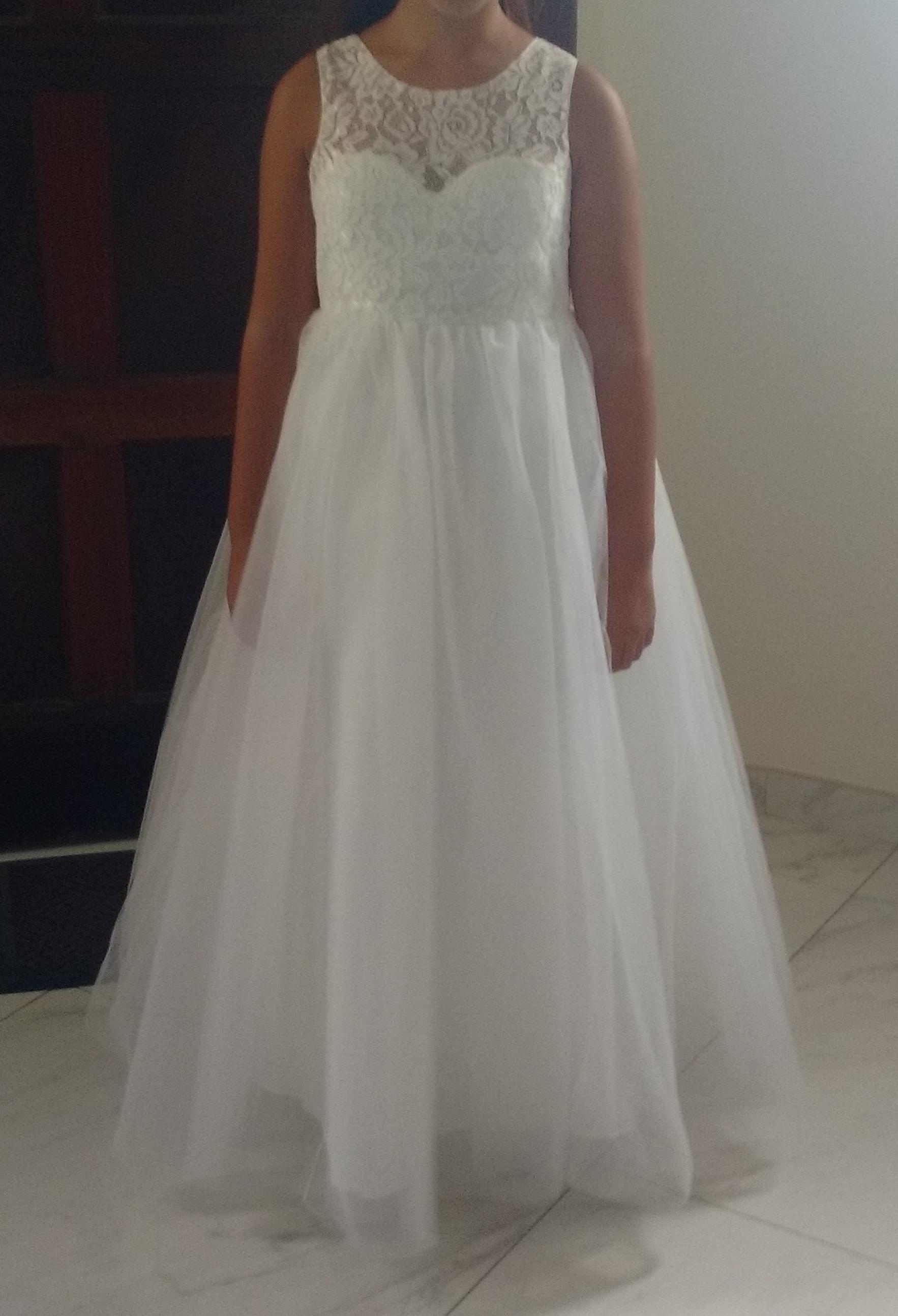 A Line Princess Floor Length Flower Girl Dress Satin
