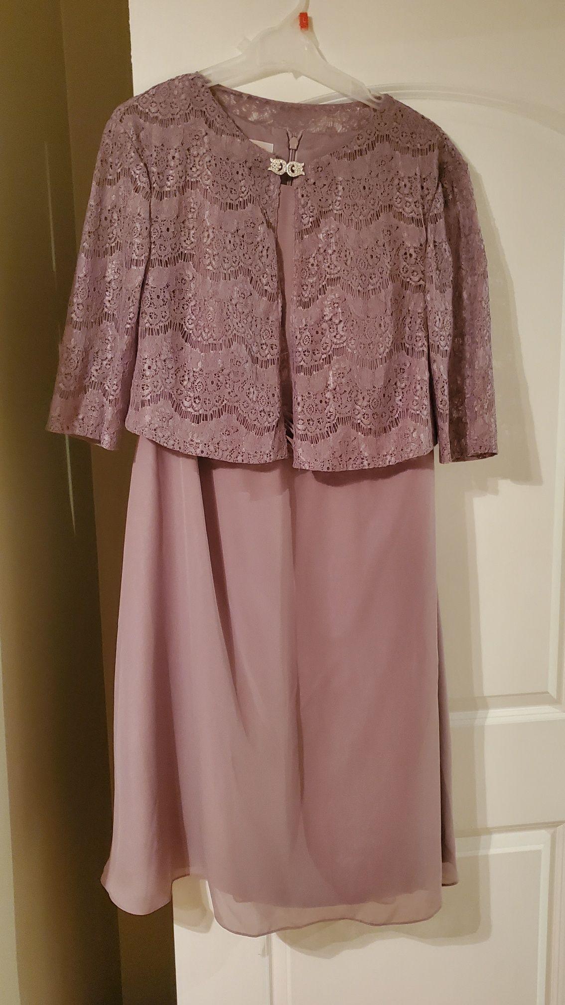 A-Linie U-Ausschnitt Wadenlang Chiffon Kleid für die Brautmutter mit Rüschen (008143374)
