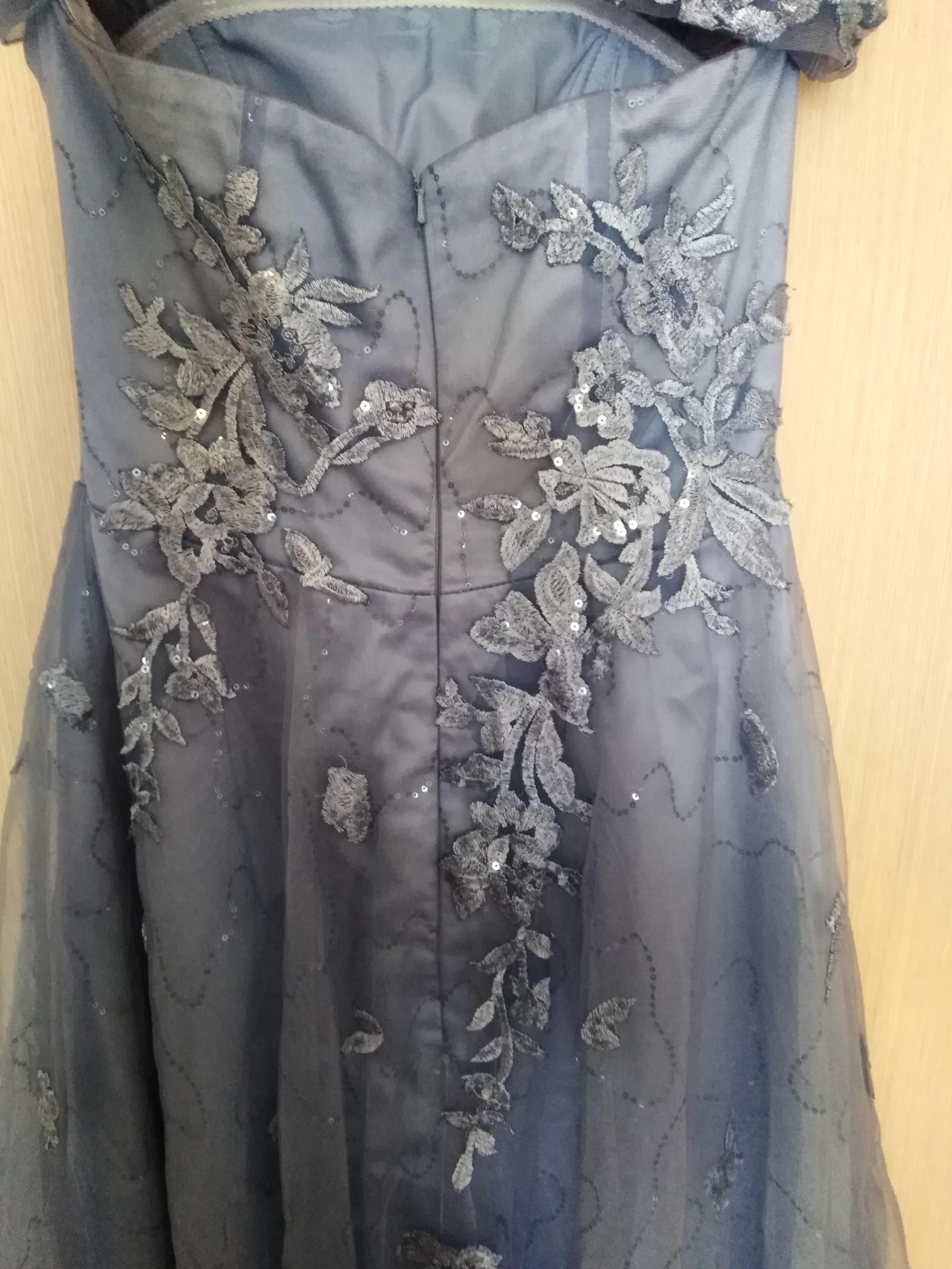 Forme Princesse Hors-la-épaule Balayage/Pinceau train Tulle Robe de soirée avec Paillettes (017147951)