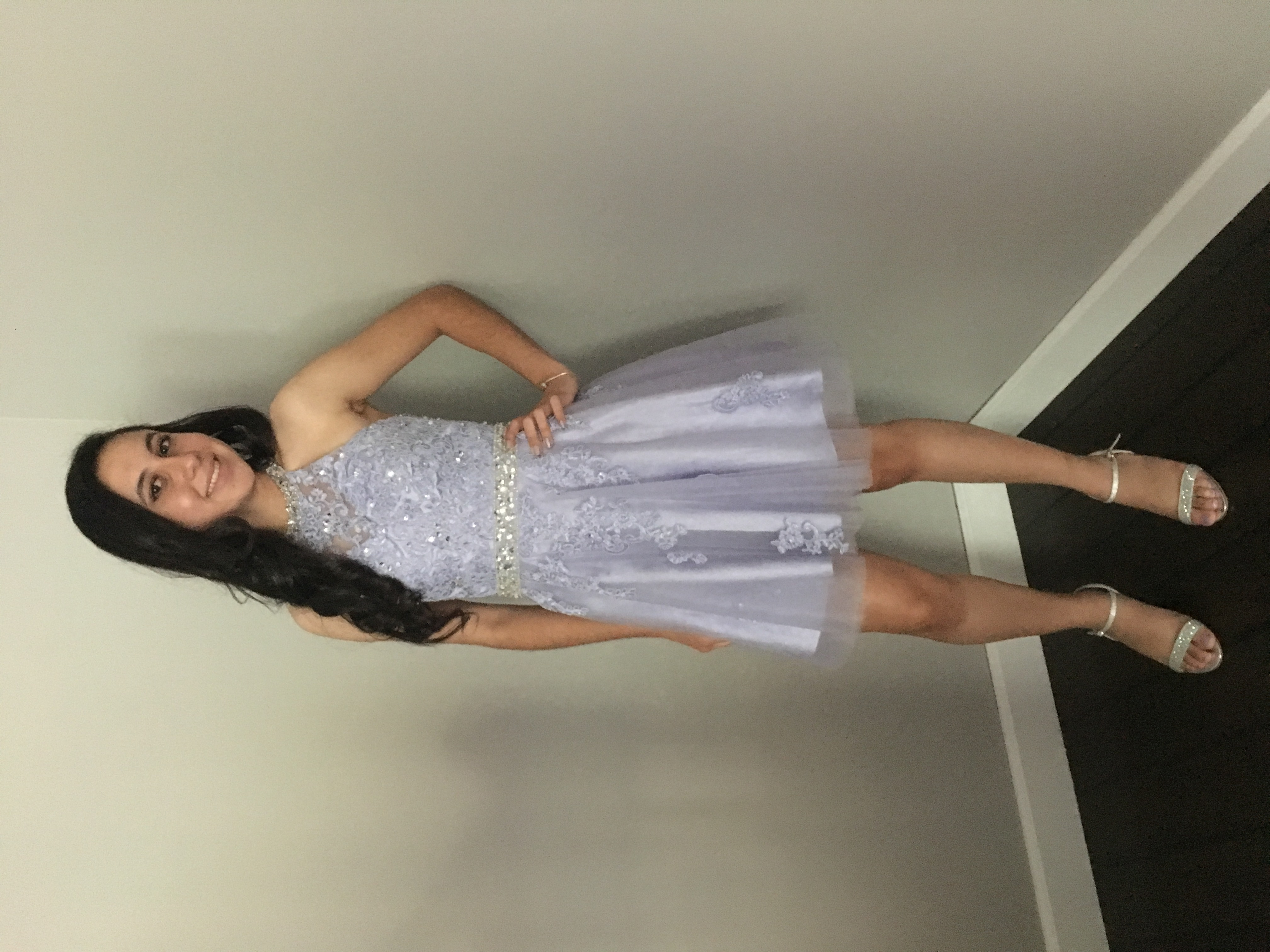 A-Line/Princess Halter Short/Mini Tulle Prom Dress With