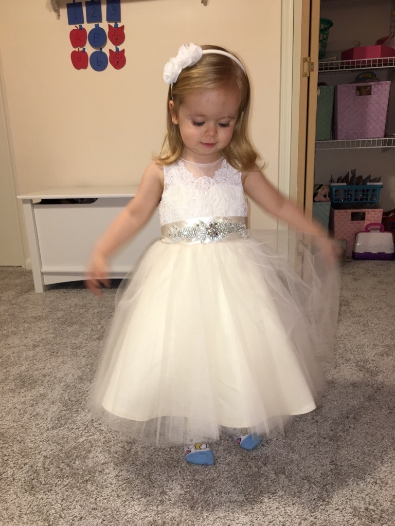 A-Line/Princess Knee-length Flower Girl Dress - Tulle/Lace ... - photo#5