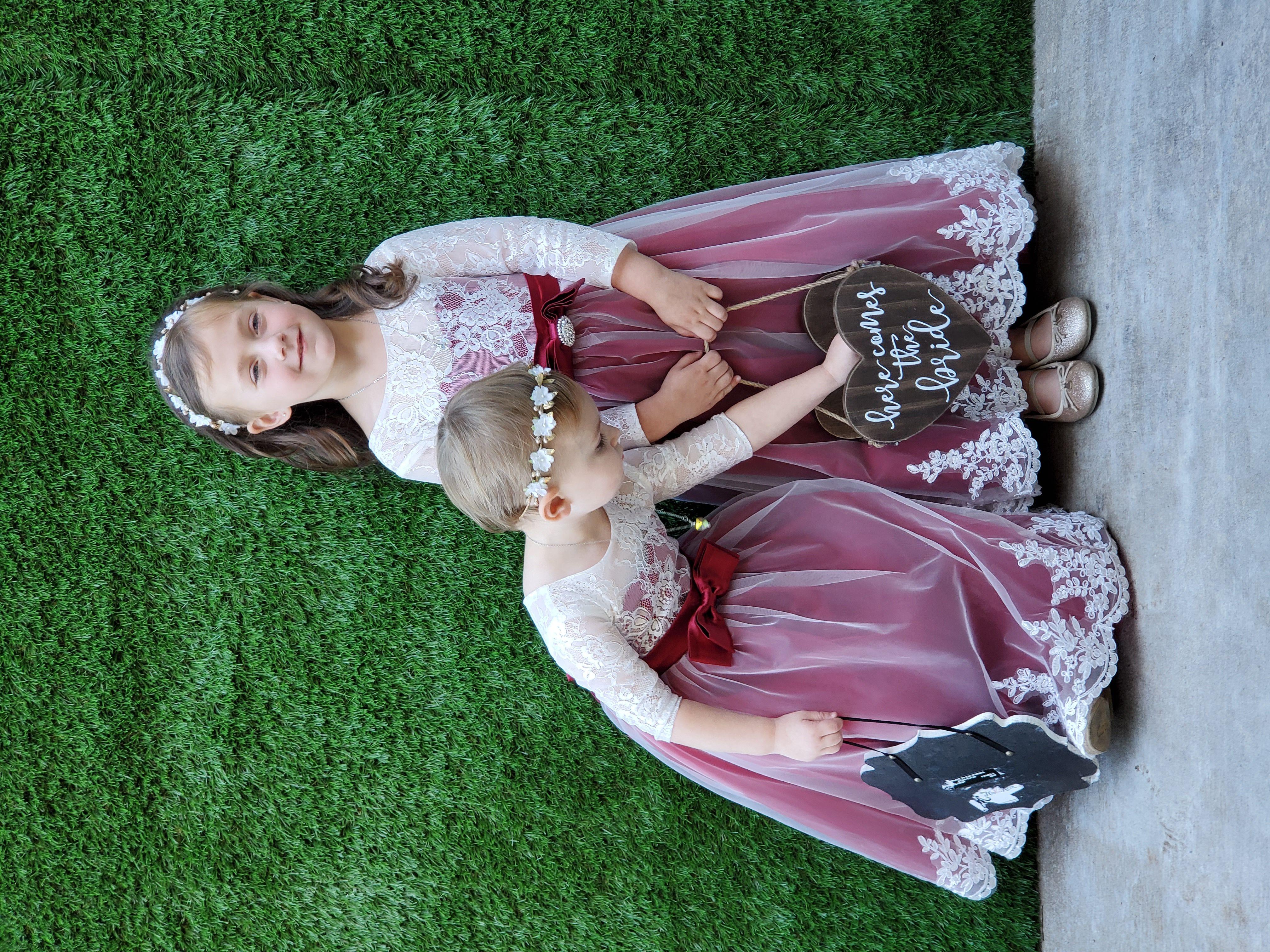 Robe Marquise/Princesse Col rond Longueur ras du sol Tulle Dentelle Robe de demoiselle d'honneur - junior avec Ceintures Brodé À ruban(s) (009130499)