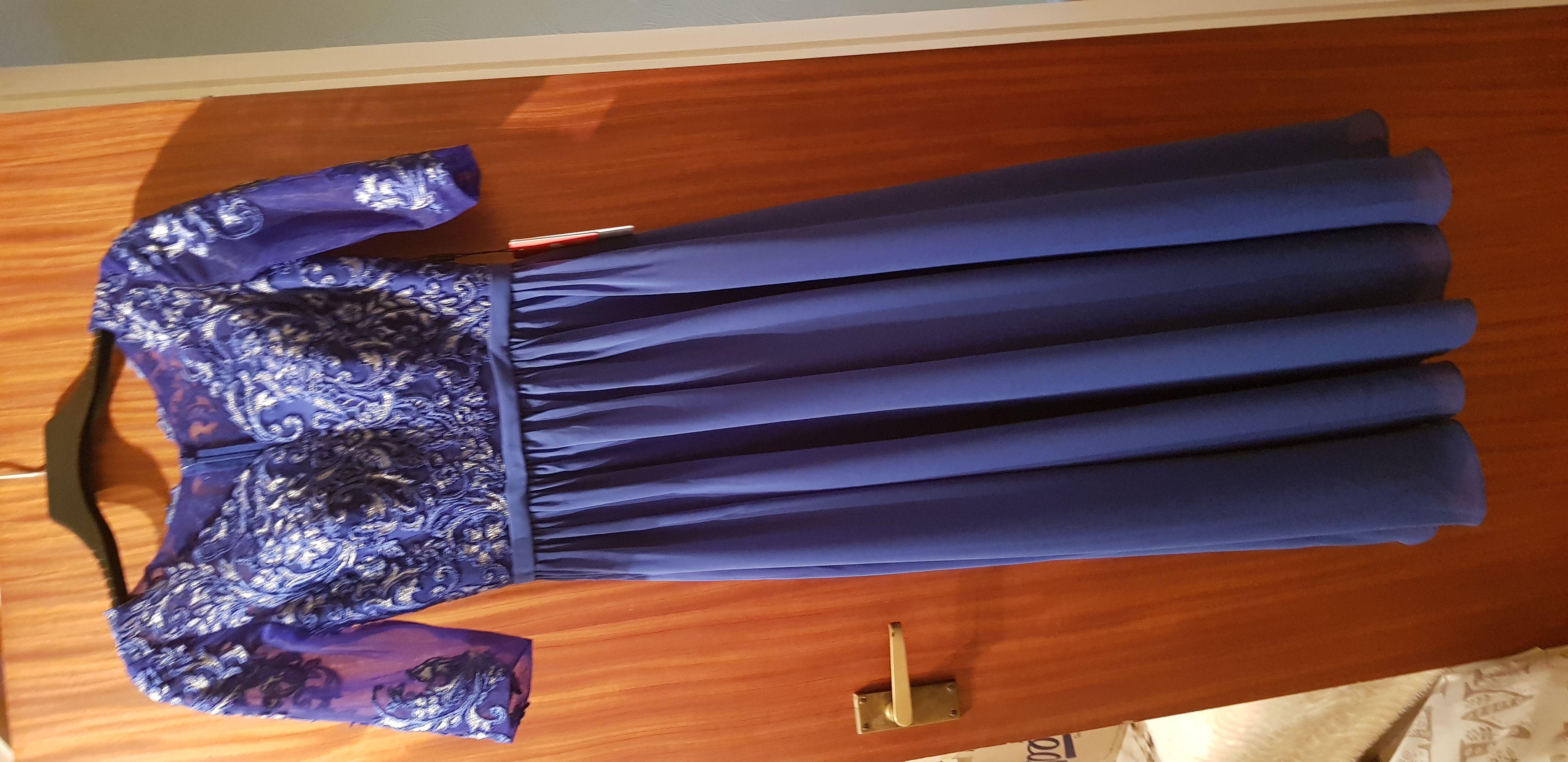 A-Linie V-Ausschnitt Knöchellang Chiffon Spitze Kleid für die Brautmutter (008204930)