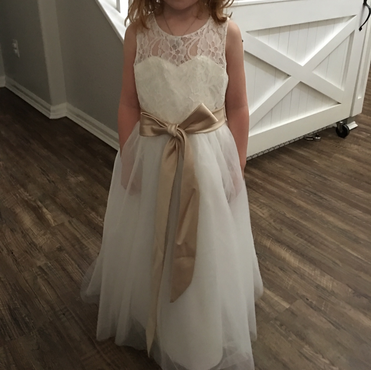 A-Line/Princess Tea-length Flower Girl Dress - Tulle/Lace ... - photo#23