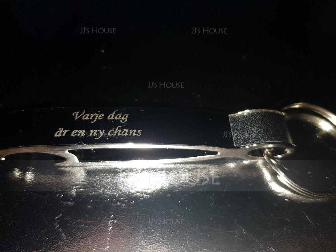 Personalized Zinc Alloy Keychains/Bottle Opener (Set of 4)