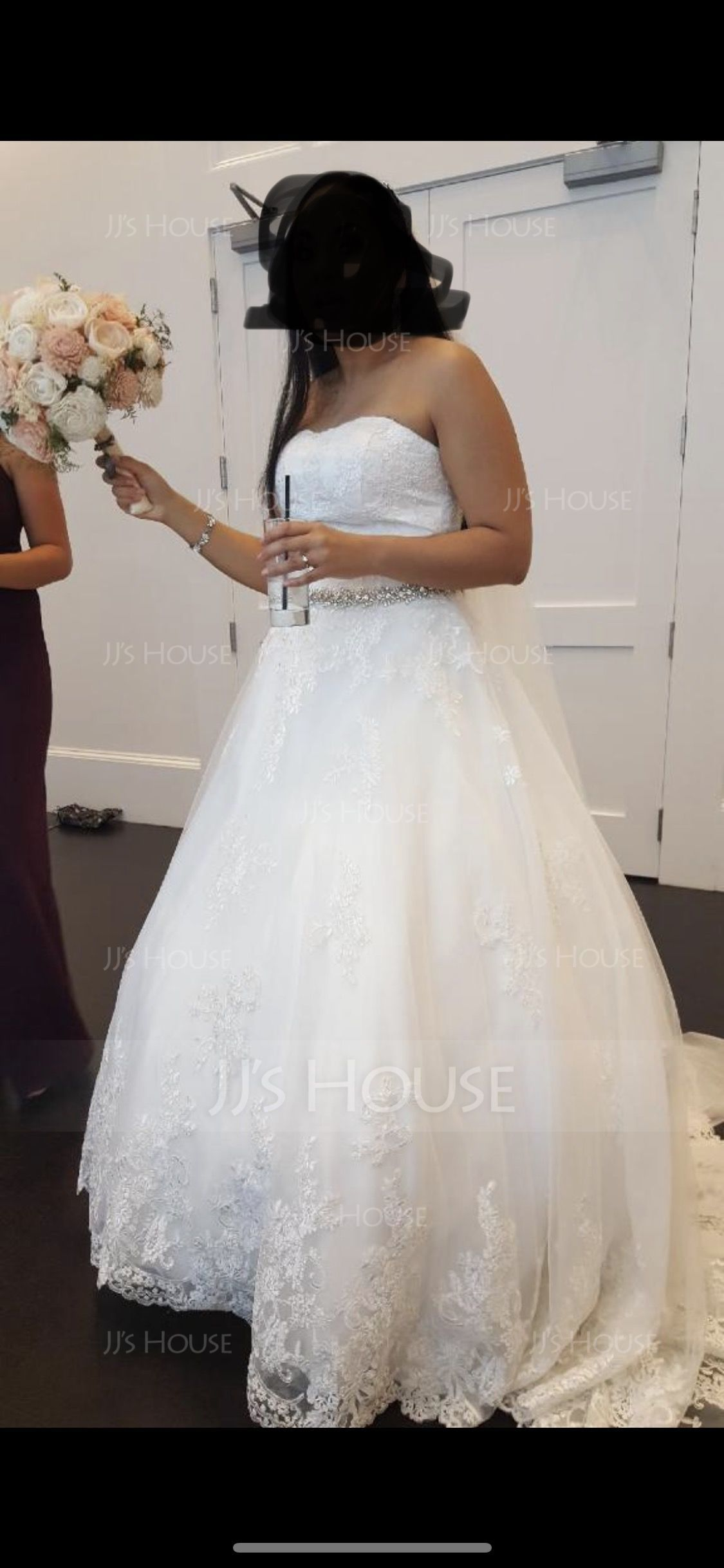 Ball-Gown Sweetheart Court Train Tulle Lace Wedding Dress (002056610)
