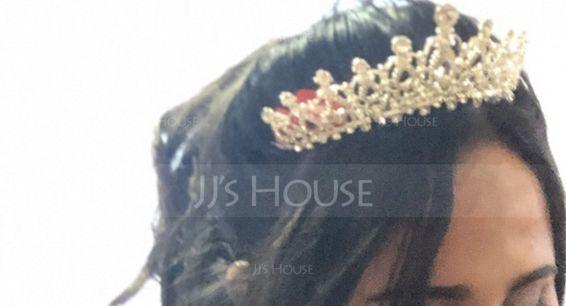 Ladies Glamourous Rhinestone/Alloy Tiaras (042122763)