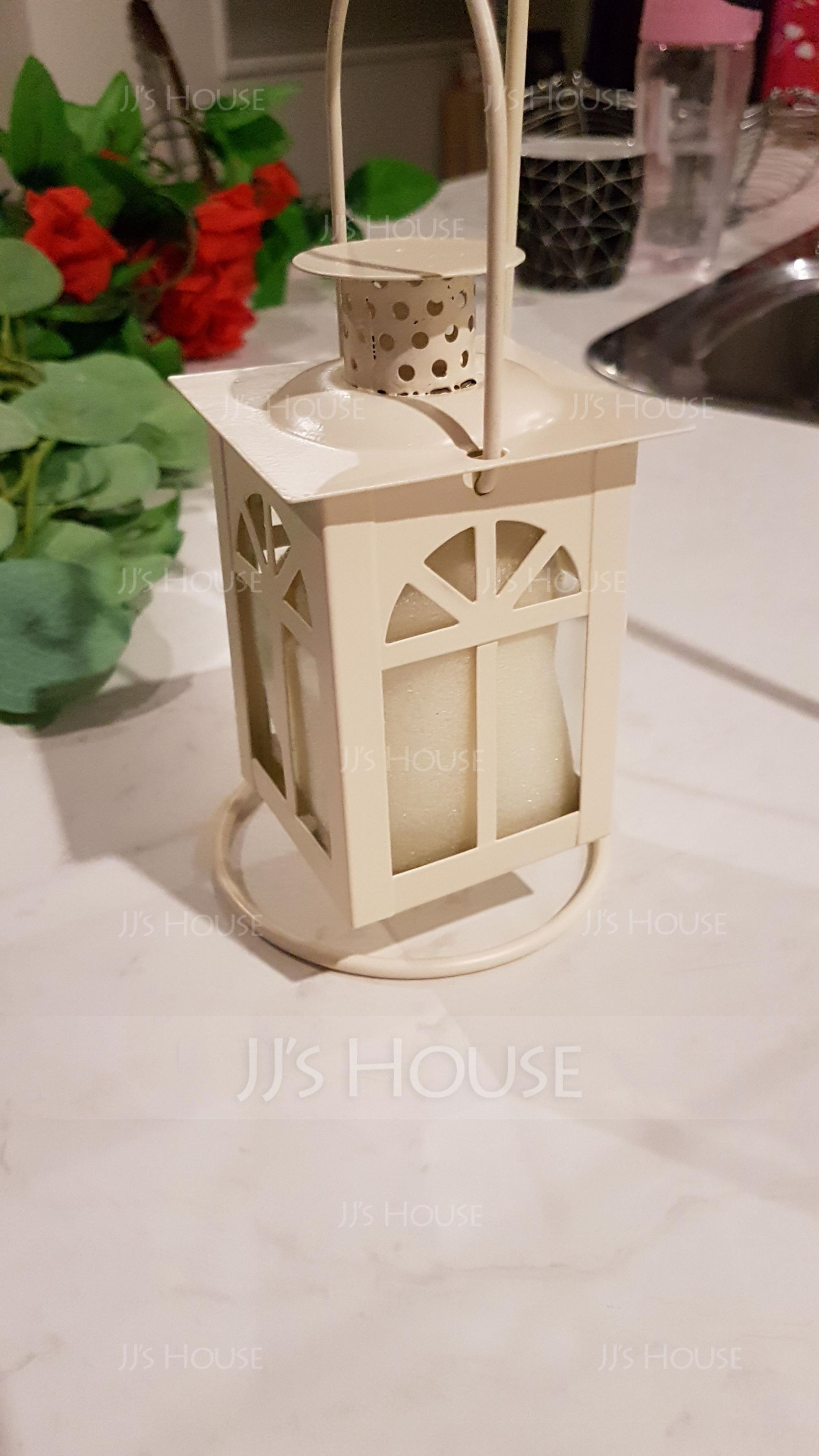 美しい ソリッドカラー アイアン ガラス キャンドルホルダー (単一片で販売)
