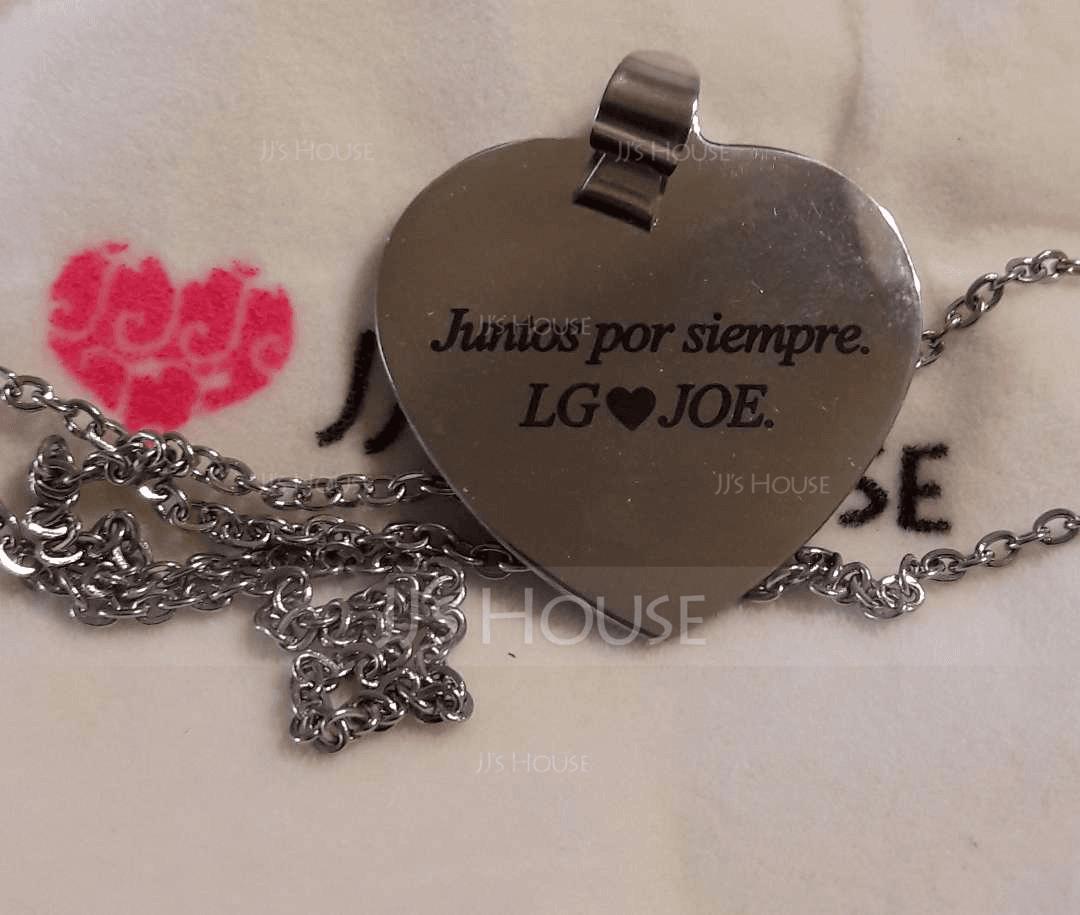 パーソナライズ 銀 心臓 カラー印刷 写真ネックレス - 母の日ギフト