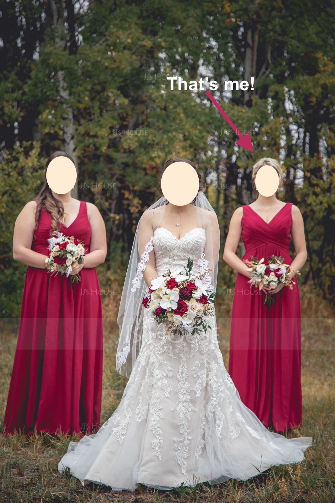 A-Line V-neck Floor-Length Chiffon Bridesmaid Dress With Ruffle Split Front (007105590)