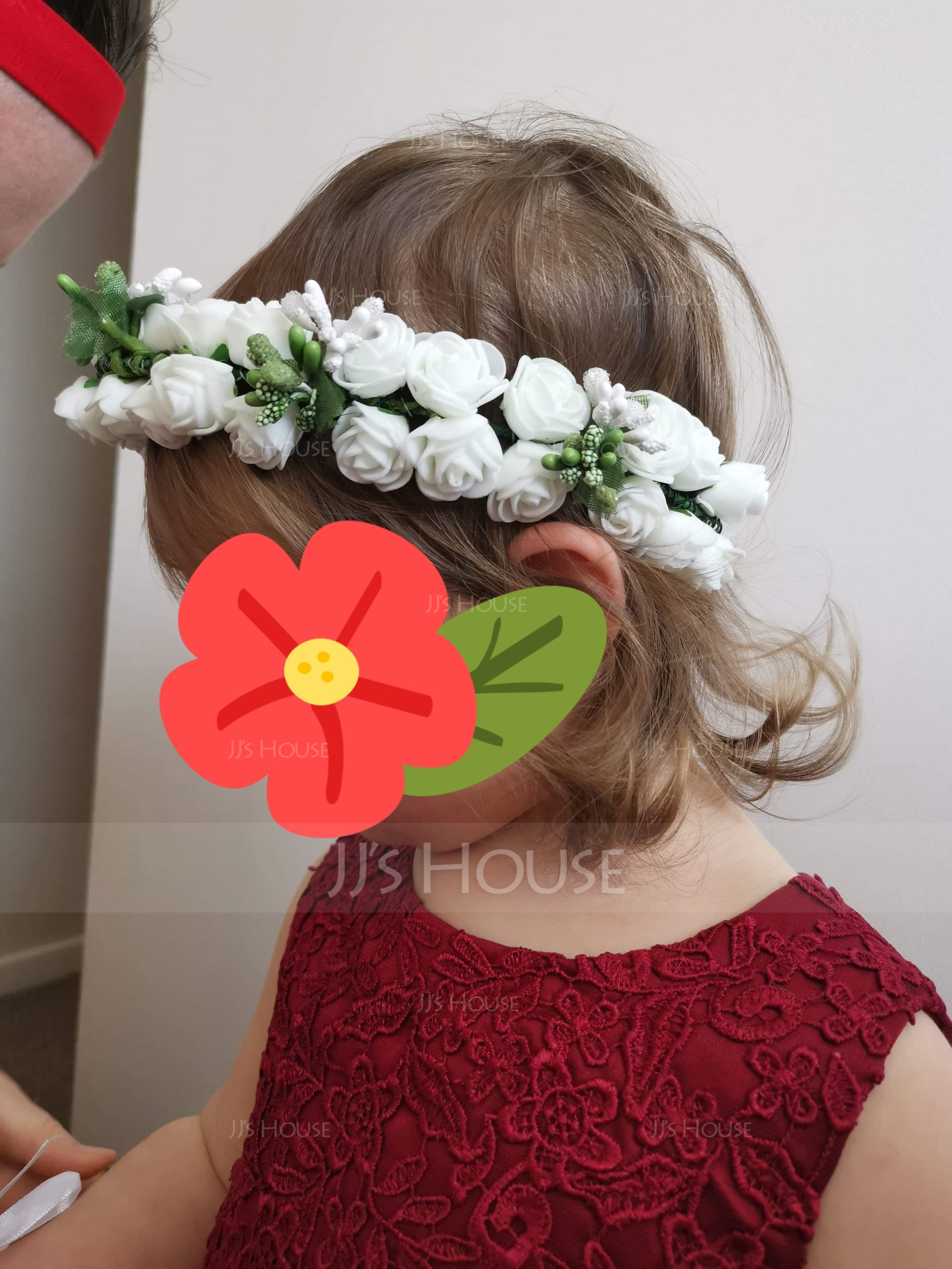 Foam With Ribbon Flower Headband ( Including Wrist Corsage)(198117017)