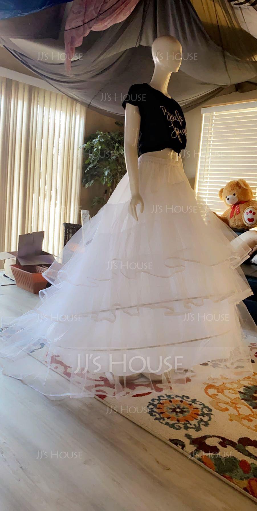 Women Nylon/Tulle Netting 3 Tiers PLUS SIZE Petticoats (037067028)