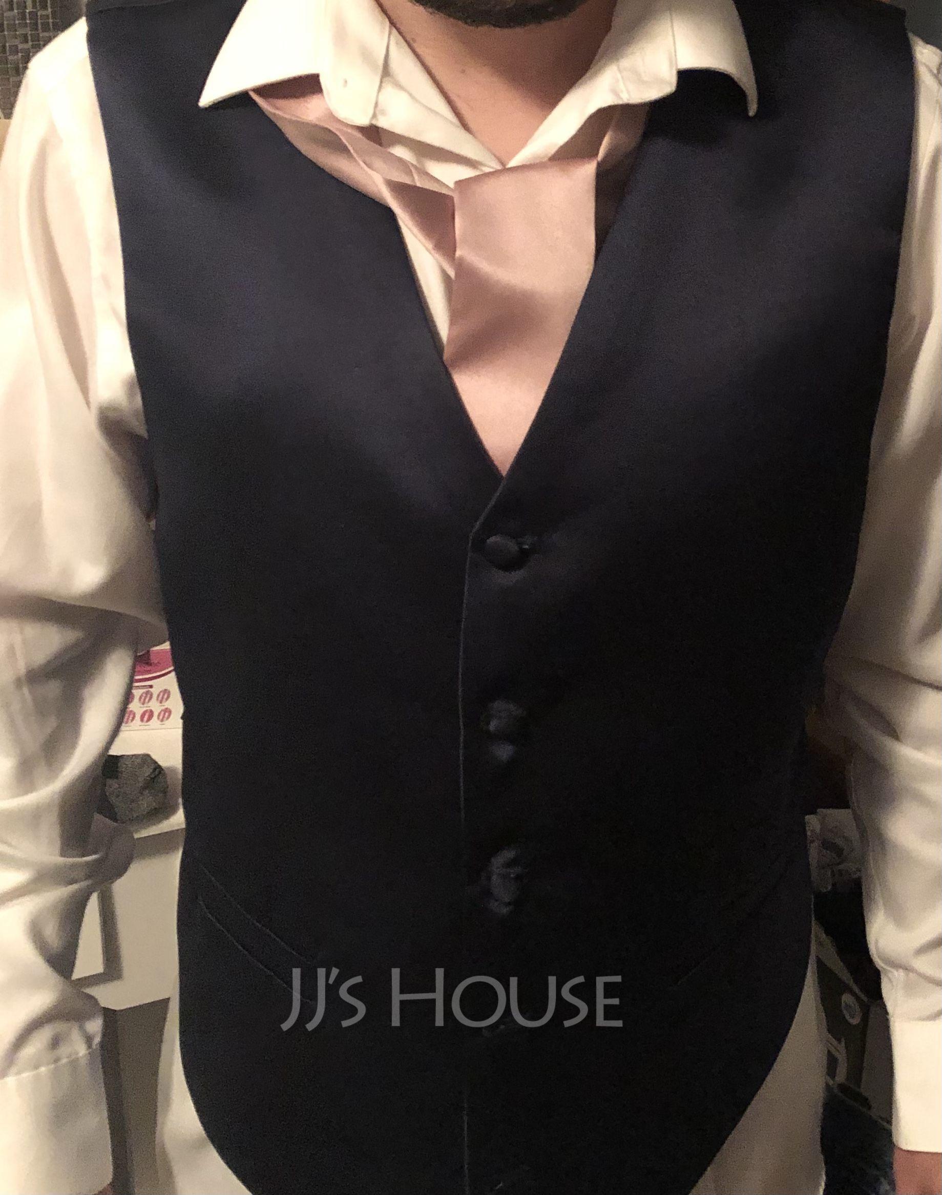 JJ's House Satin Formal Vest/Waistcoat