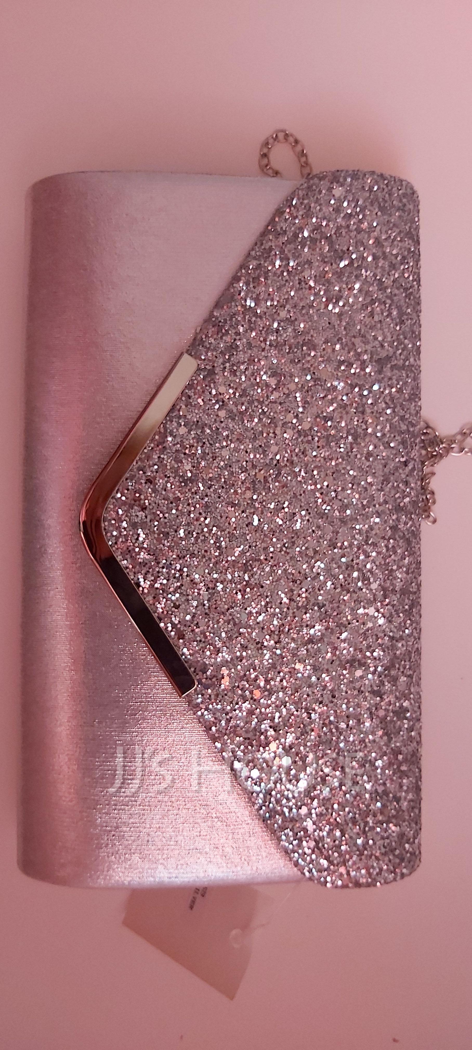 Envelope/Metal Edge Glitter Clutches