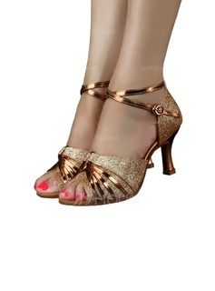Women's Sparkling Glitter Heels Latin Dance Shoes (053170338)