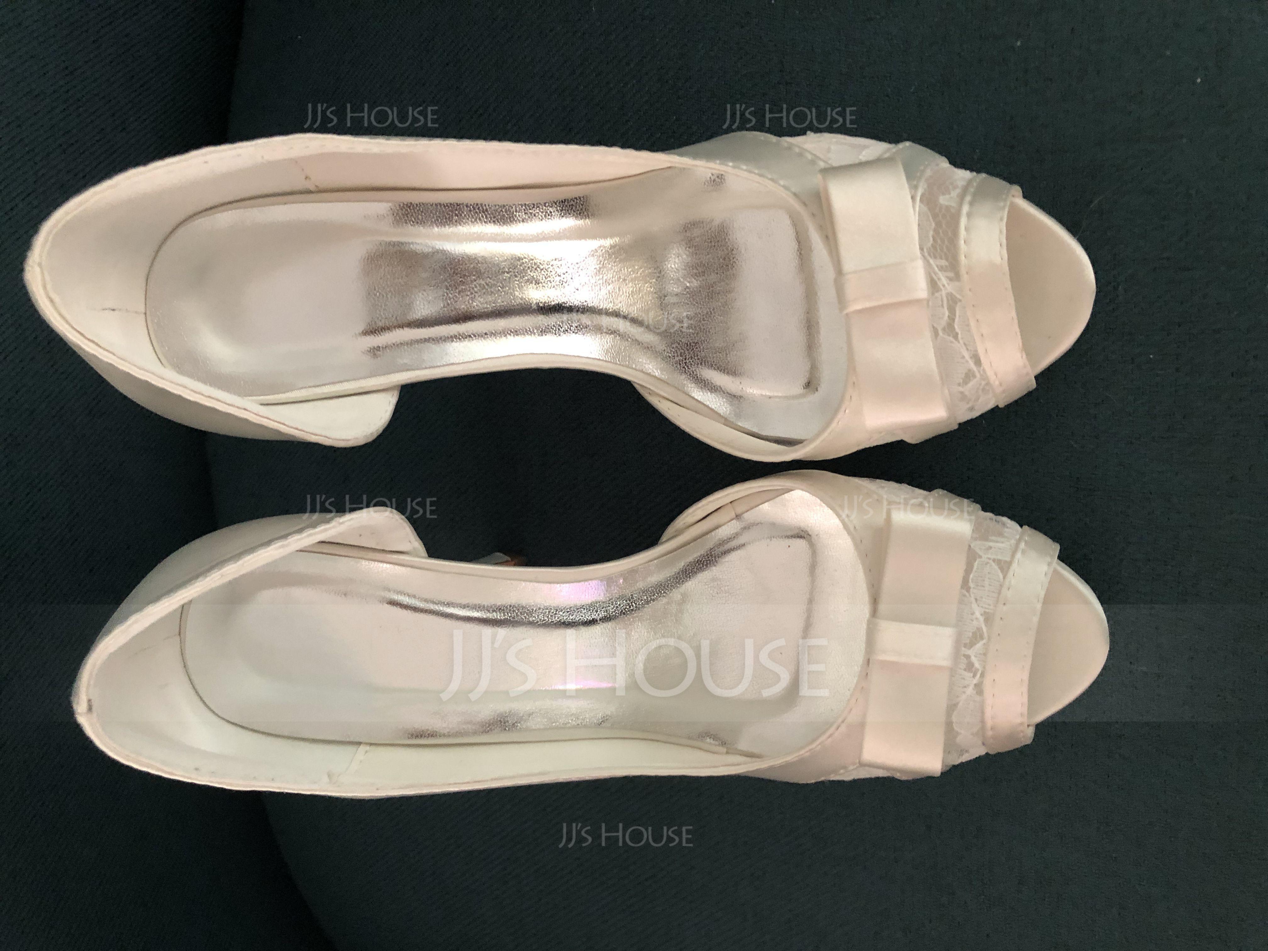 Women's Lace Satin Stiletto Heel Peep Toe Sandals (047092140)