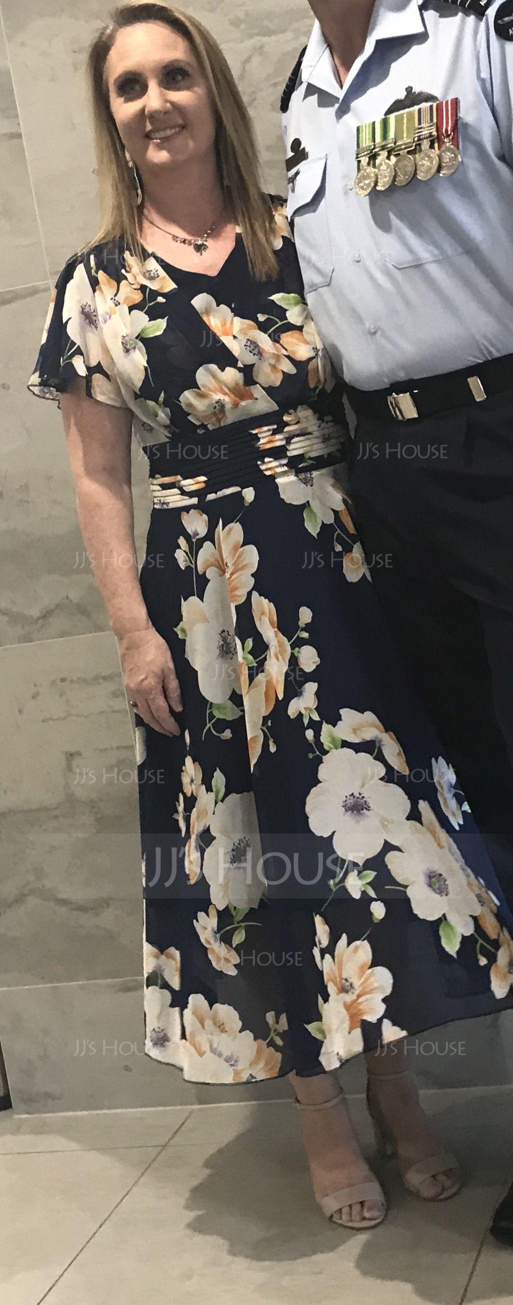 Mousseline avec imprimé Mi-longue Robe (199174255)