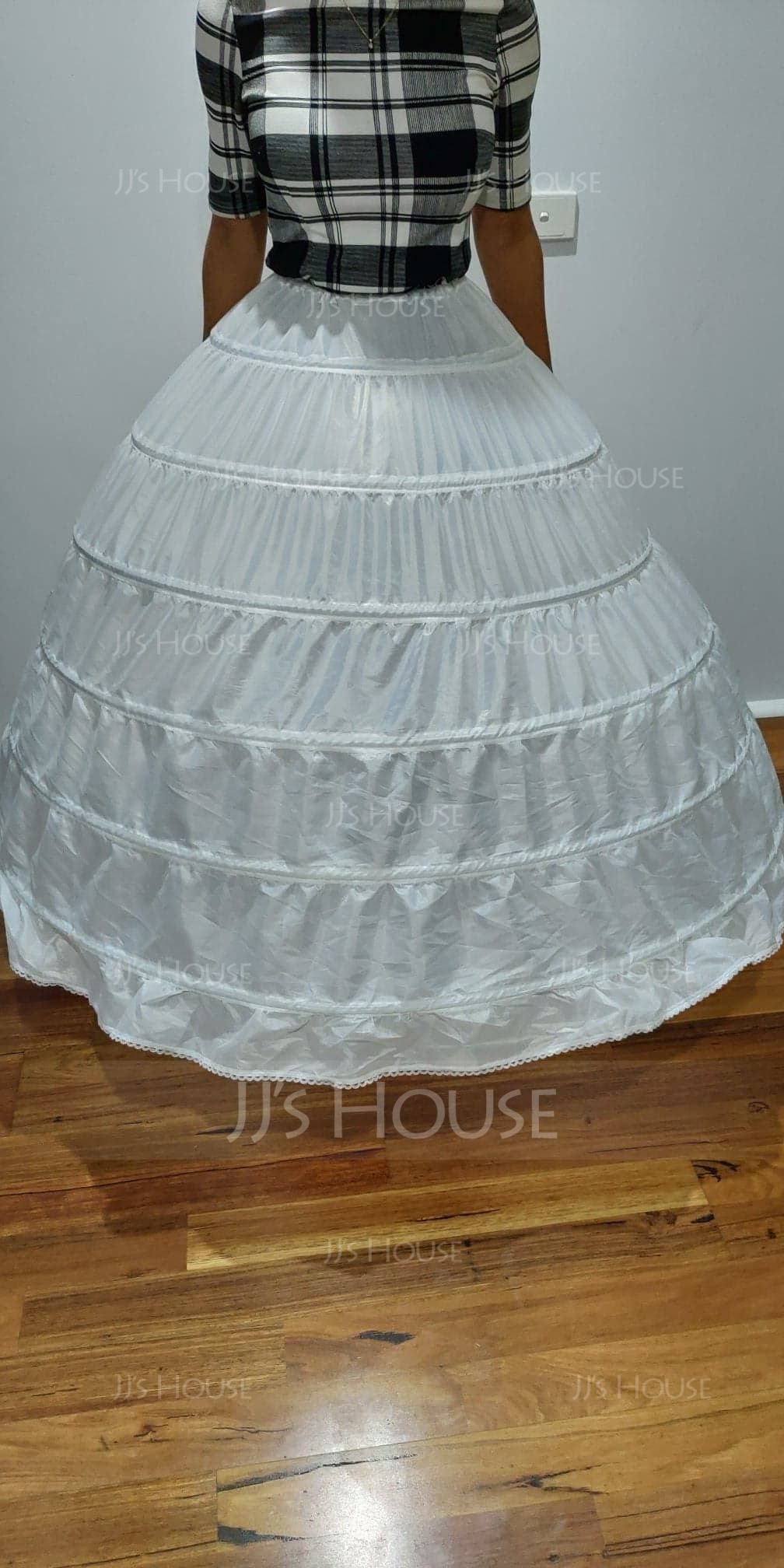 Women Polyester 1 Tiers Petticoats (037120409)