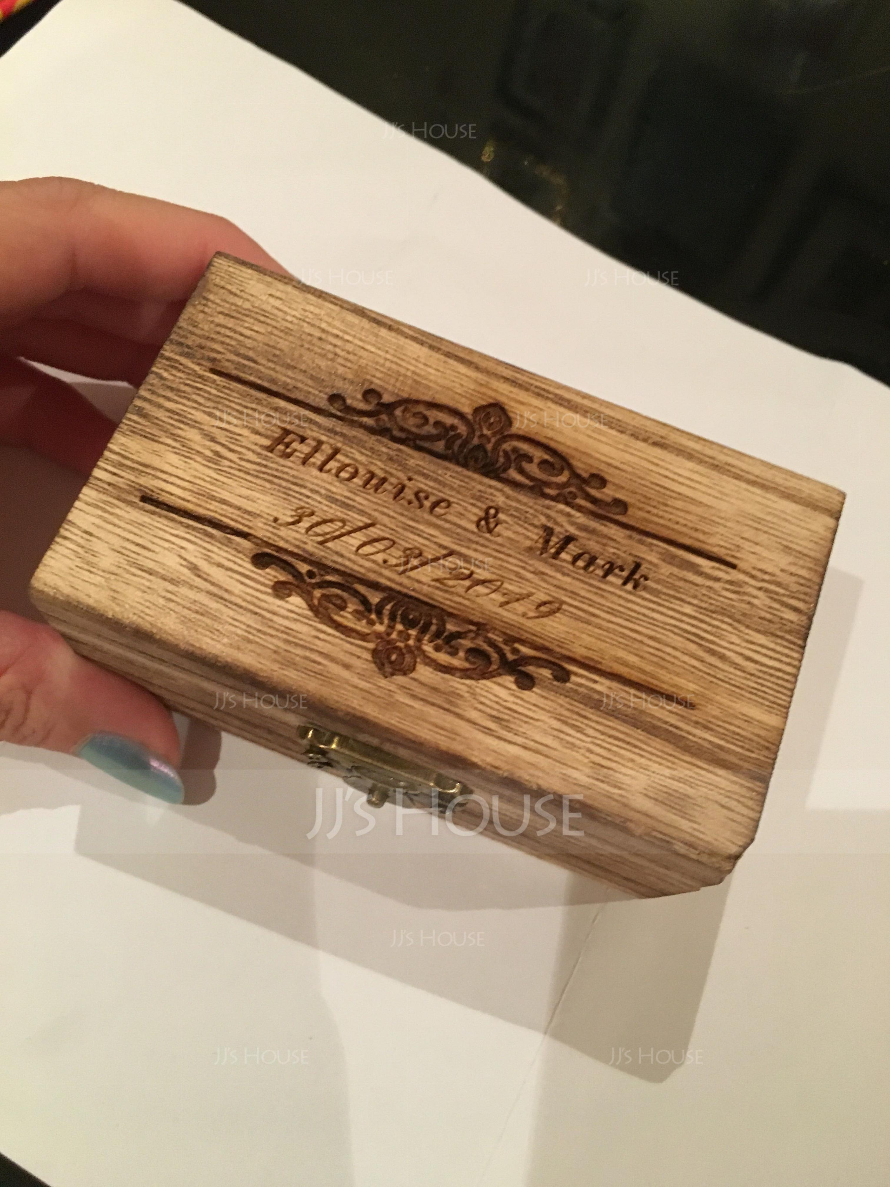 Personalized Ring Box in Wood (103186336)