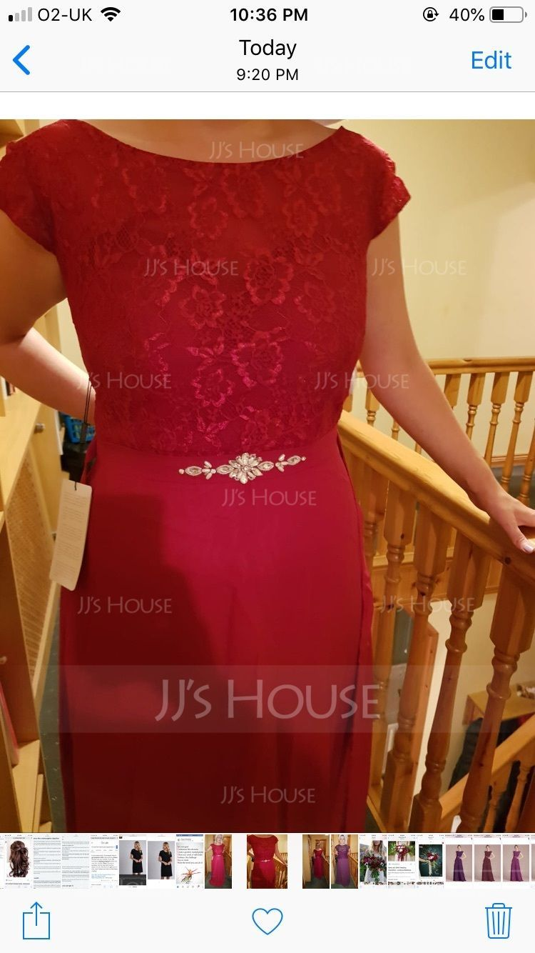 96f54c32 A-Line/Princess Scoop Neck Floor-Length Chiffon Lace Prom Dresses ...