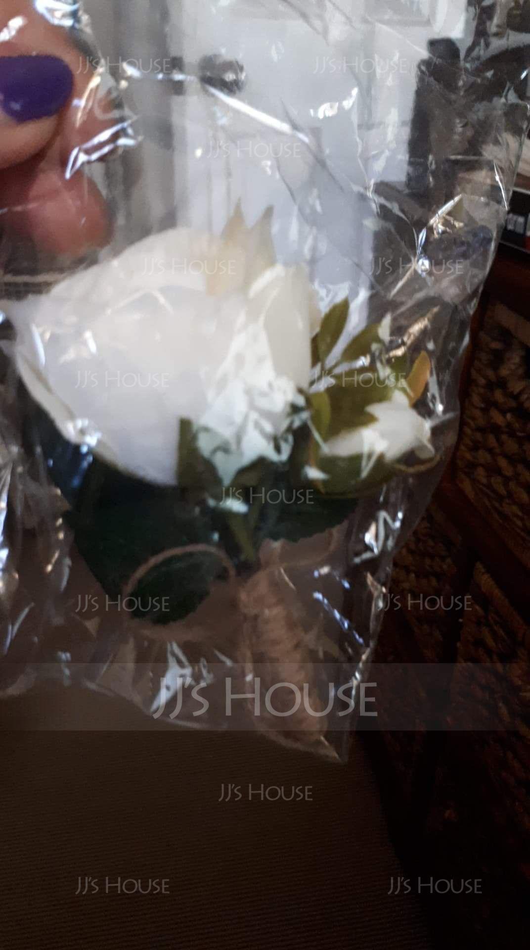 Ručně vázané Silk Flower Boutonniere (Prodává se jako jeden kus) - Boutonniere (123182673)