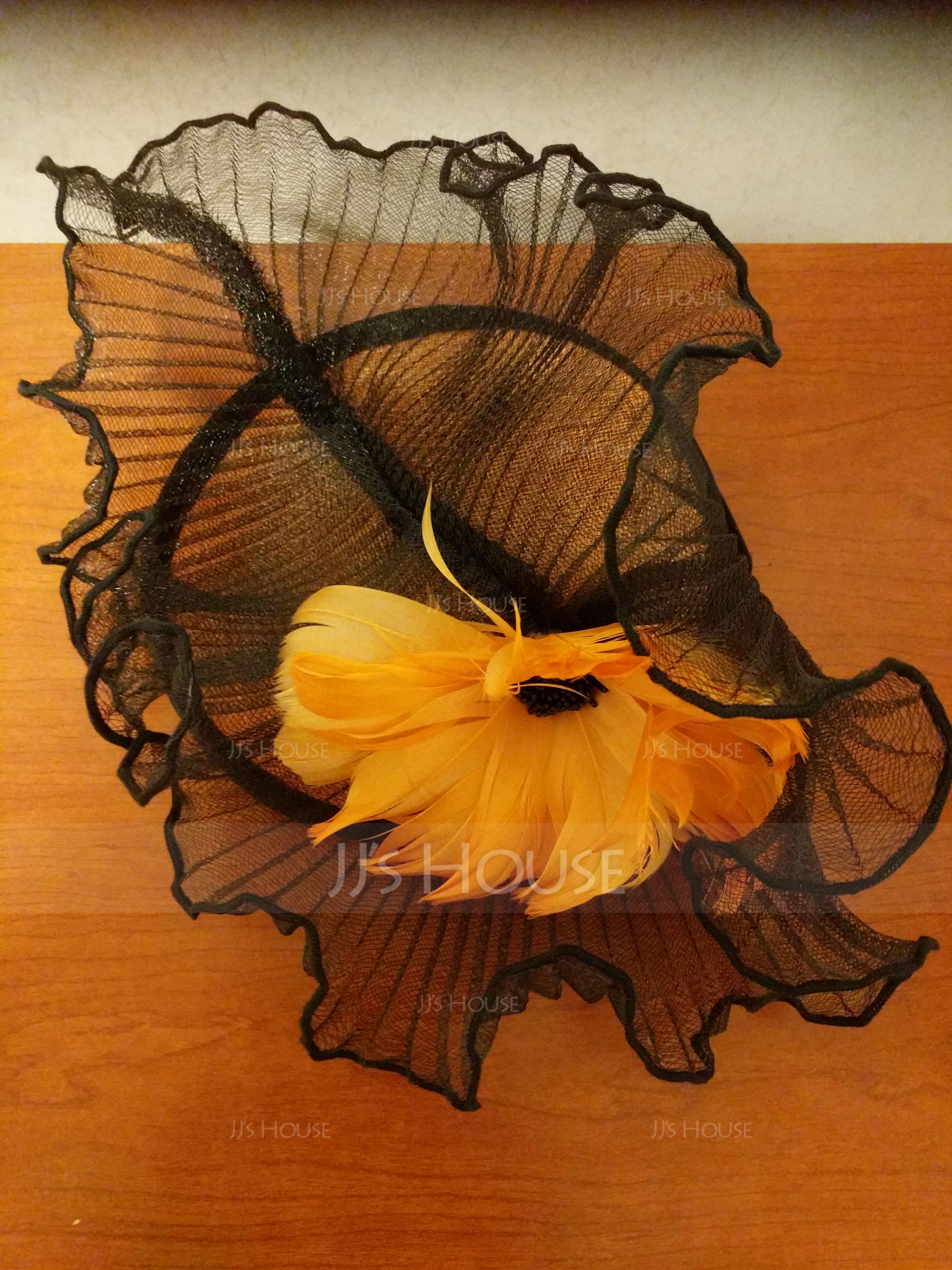 Dames Beau Batiste/Feather avec Feather Chapeaux de type fascinator/Kentucky Derby Des Chapeaux (196154304)