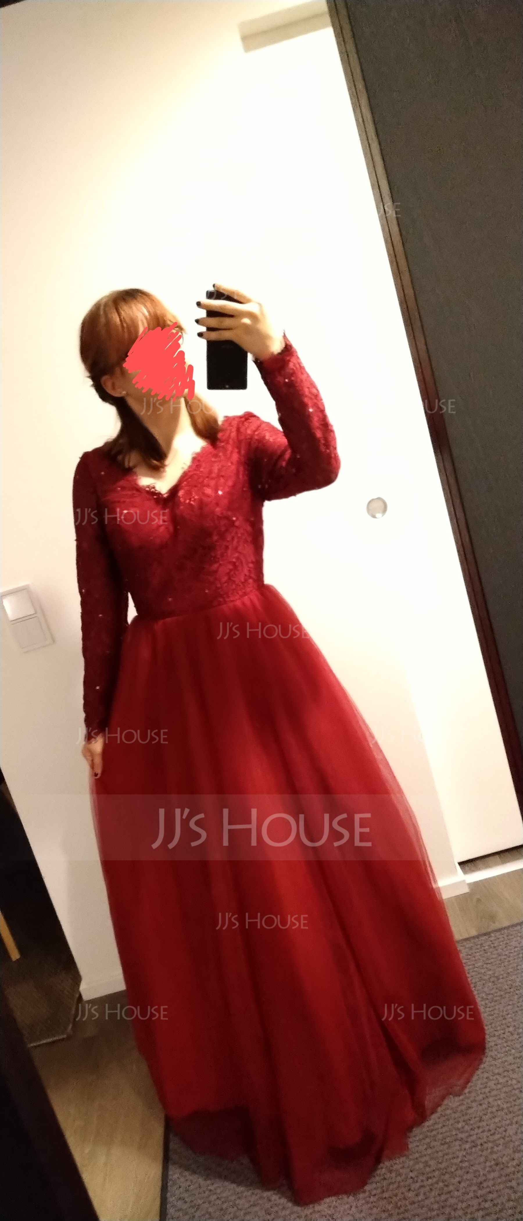 プリンセスライン1 Vネック マキシレングス チュール プロム用ドレス とともに ビーズ スパンコール
