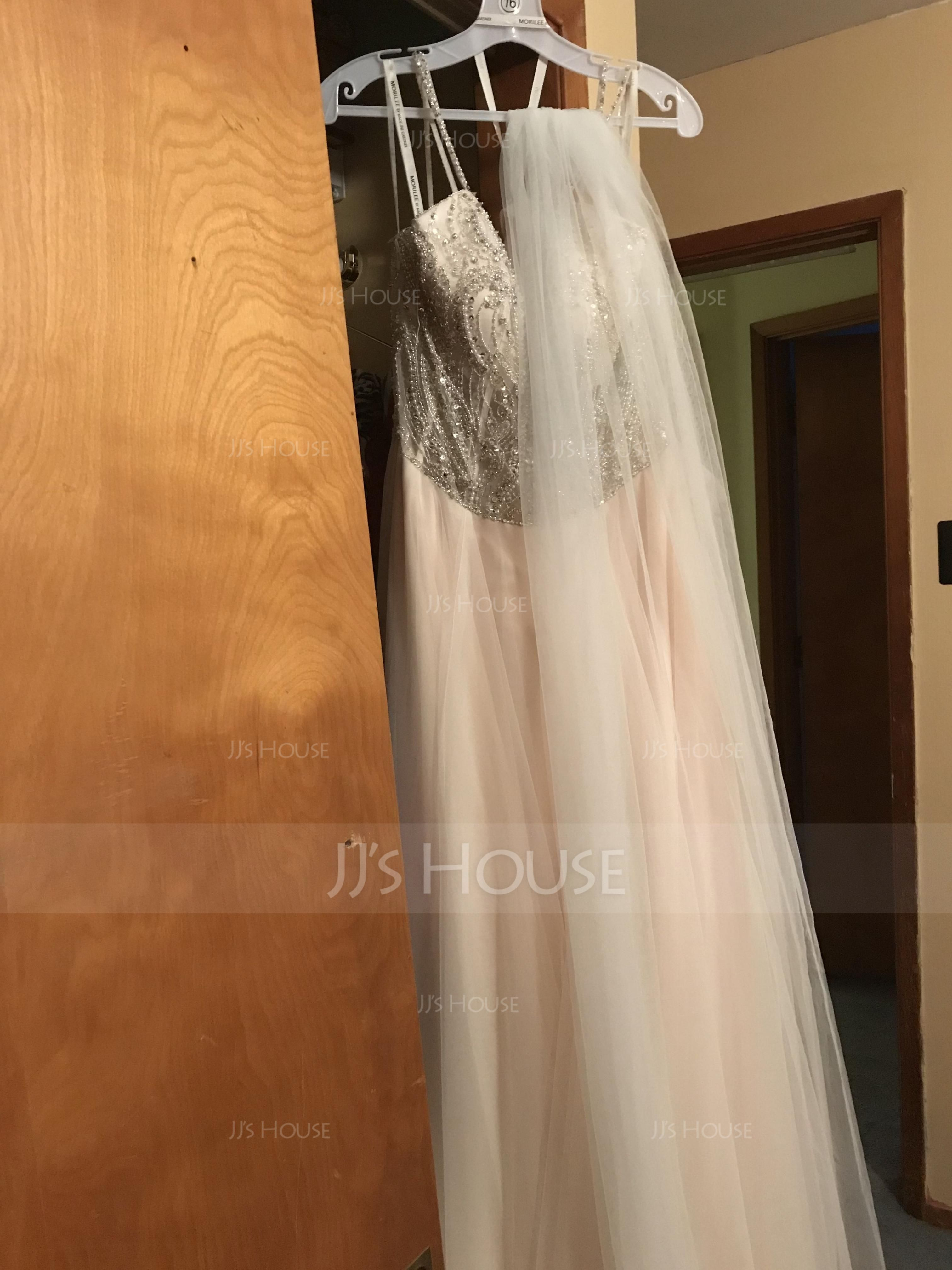 One-tier Cut Edge Chapel Bridal Veils (006114049)