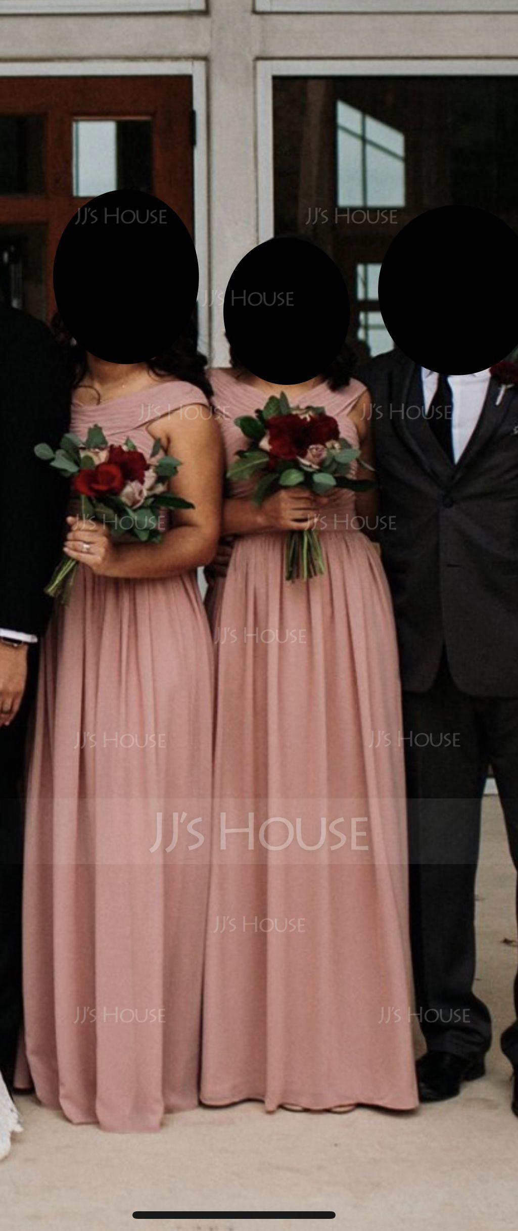 A-Line V-neck Floor-Length Chiffon Prom Dresses With Ruffle (018116386)