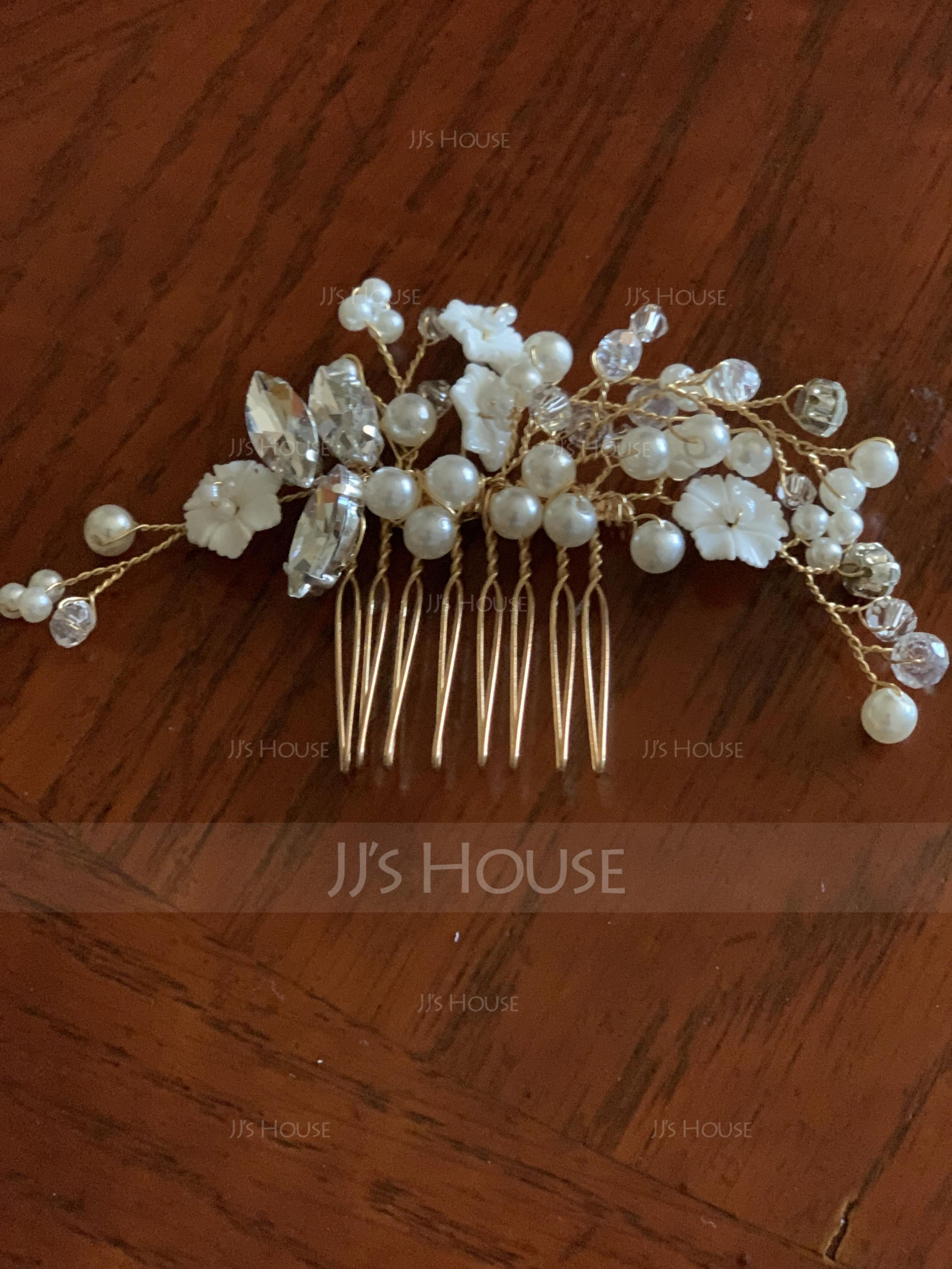 Beautiful Rhinestone/Imitation Pearls Combs & Barrettes With Pearl (042123417)