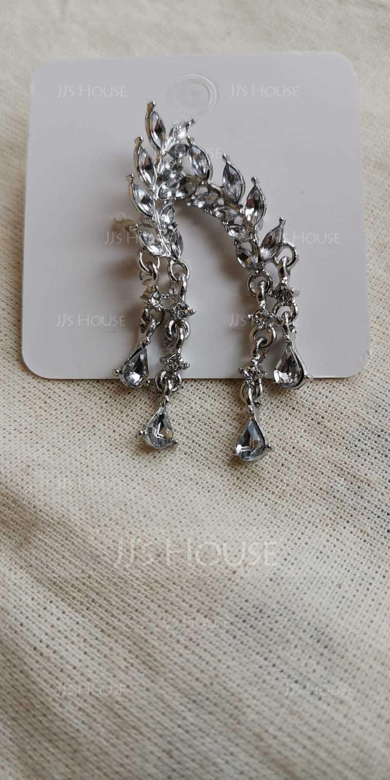 Shining Alloy/Rhinestones Ladies' Earrings (011129644)