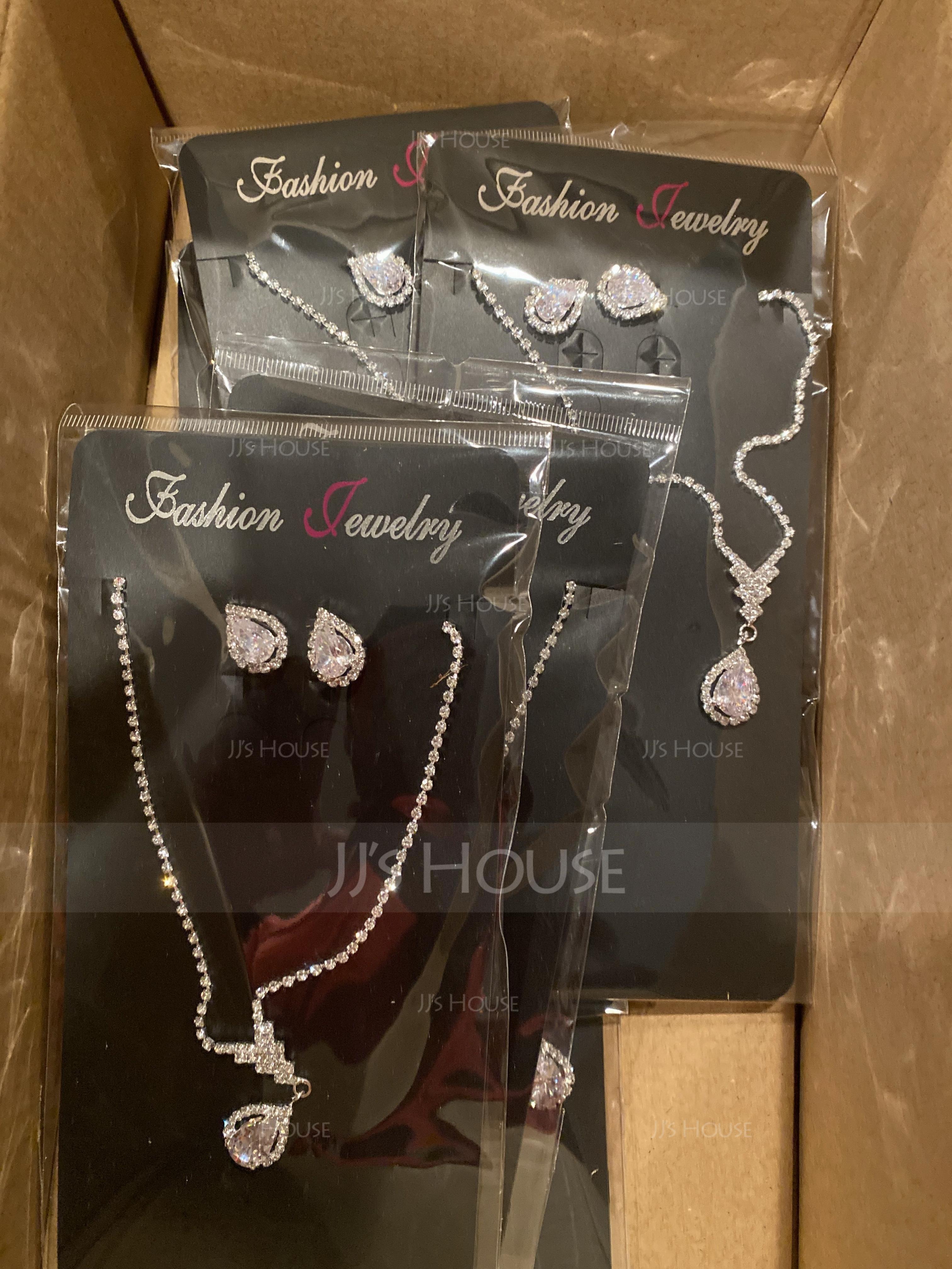 Elegant Rhinestones/Zircon With Rhinestone Ladies' Jewelry Sets (011167253)