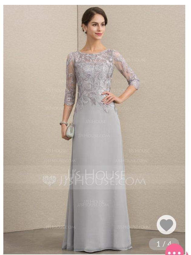 A-Line/Princess Scoop Neck Floor-Length Chiffon Lace Mother of the Bride Dress With Sequins (008164075)