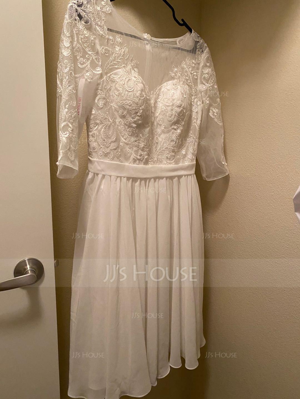 Round Neck 1/2 Sleeves Midi Dresses (293252033)
