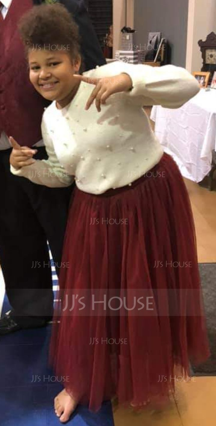 A-Line Skirts Mid-Calf Plain Polyester Skirts (1005163008)