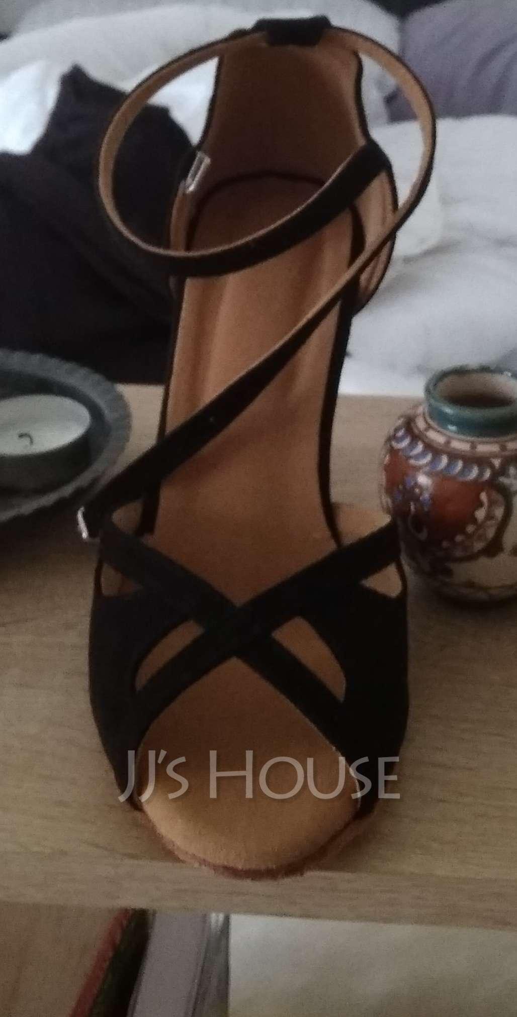 Women's Suede Heels Sandals Pumps Latin Dance Shoes (053095735)