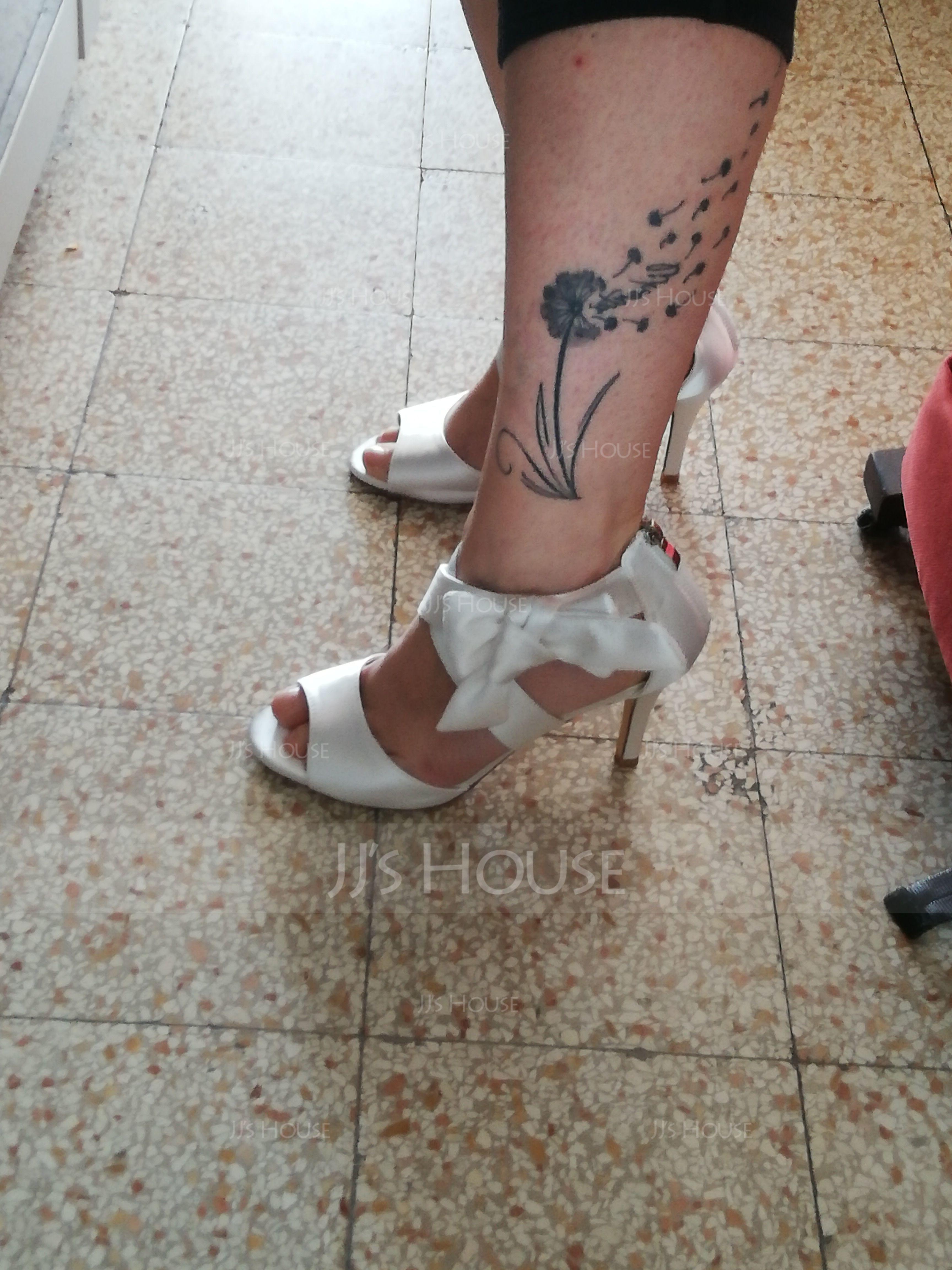 Naisten silkki kuten satiini Piikkikorko Avokkaat Sandaalit jossa Bowknot (047167832)