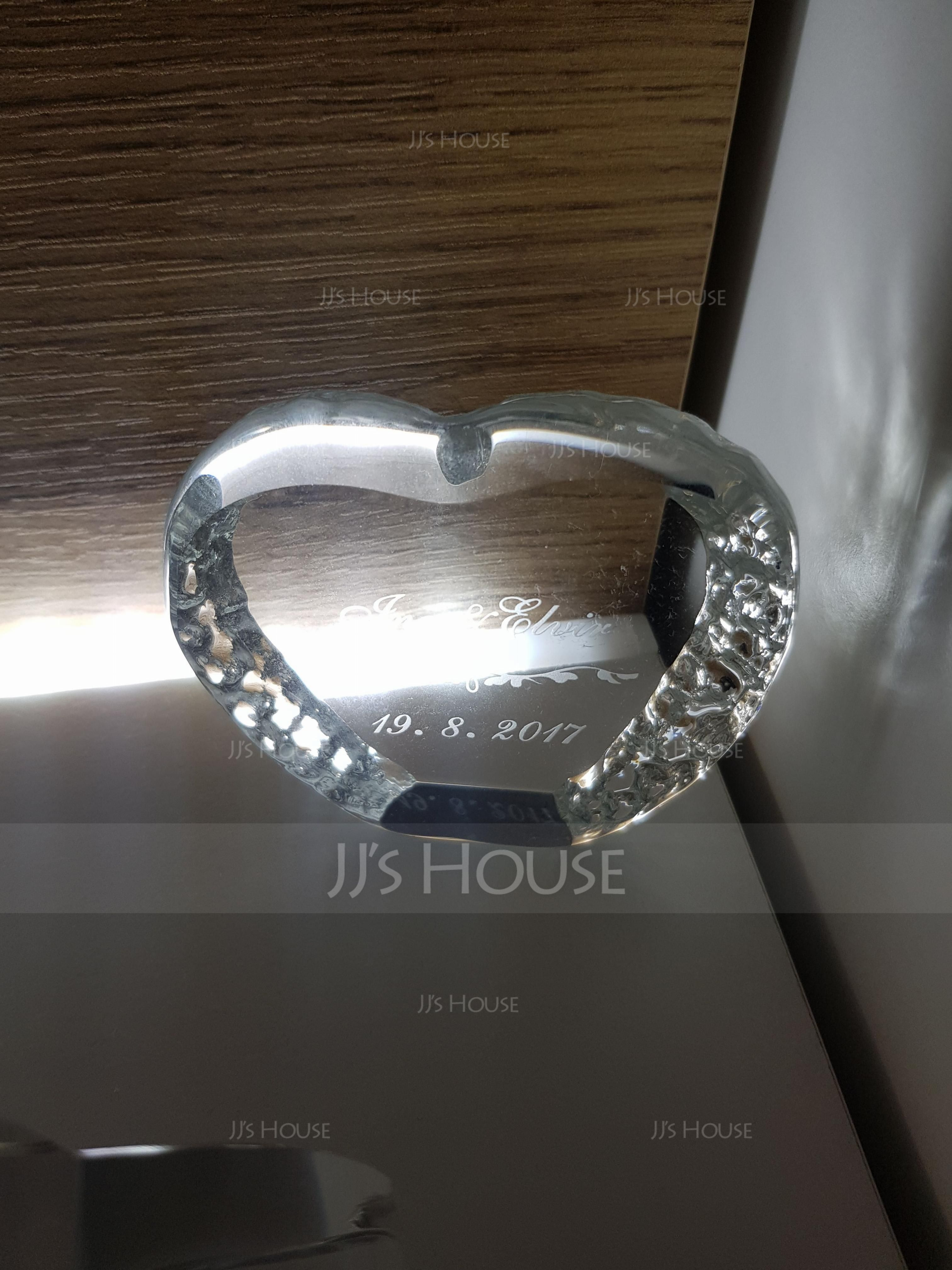 Personalized Heart-shaped Crystal Cake Topper