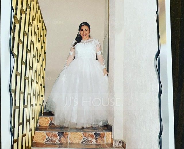 Ball-Gown/Princess Illusion Court Train Tulle Wedding Dress With Bow(s) (002171948)