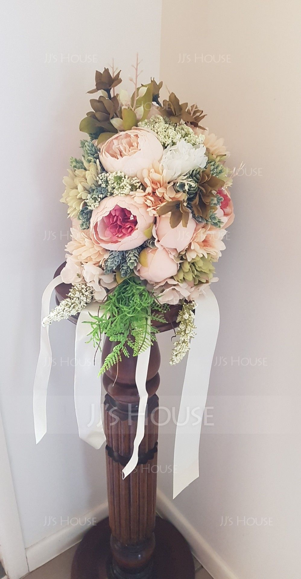 Romantic Satin Bridal Bouquets/Bridesmaid Bouquets - (123116594)