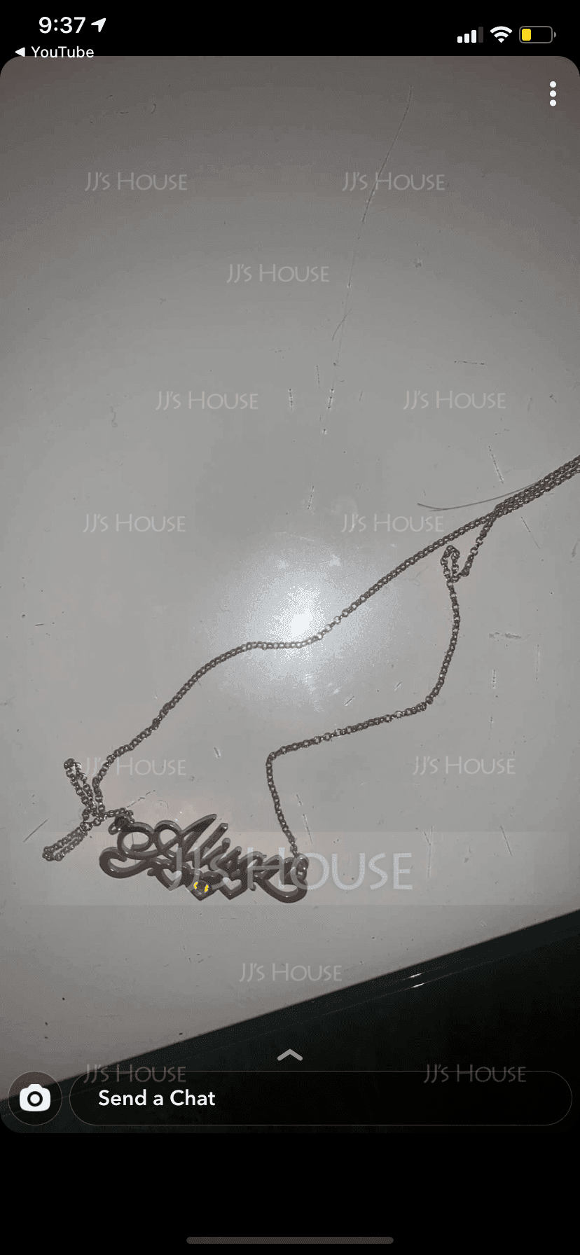 [Free Shipping]Custom 18k Rose Gold Plated Silver Name Birthstone Necklace Nameplate With Kids Names (288216106)-Christmas Gifts