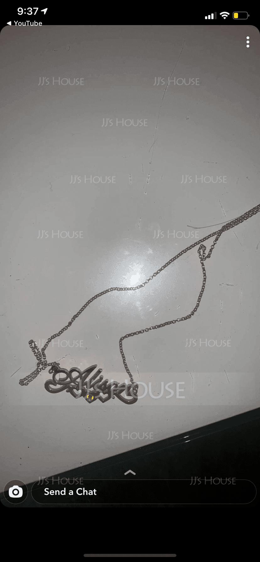 [Ilmainen toimitus]Yksilöllinen 18 k Rose kullattua hopeaa Nimi Birthstone-kaulakoru Nimikyltti jossa Lasten nimet -Joululahjat