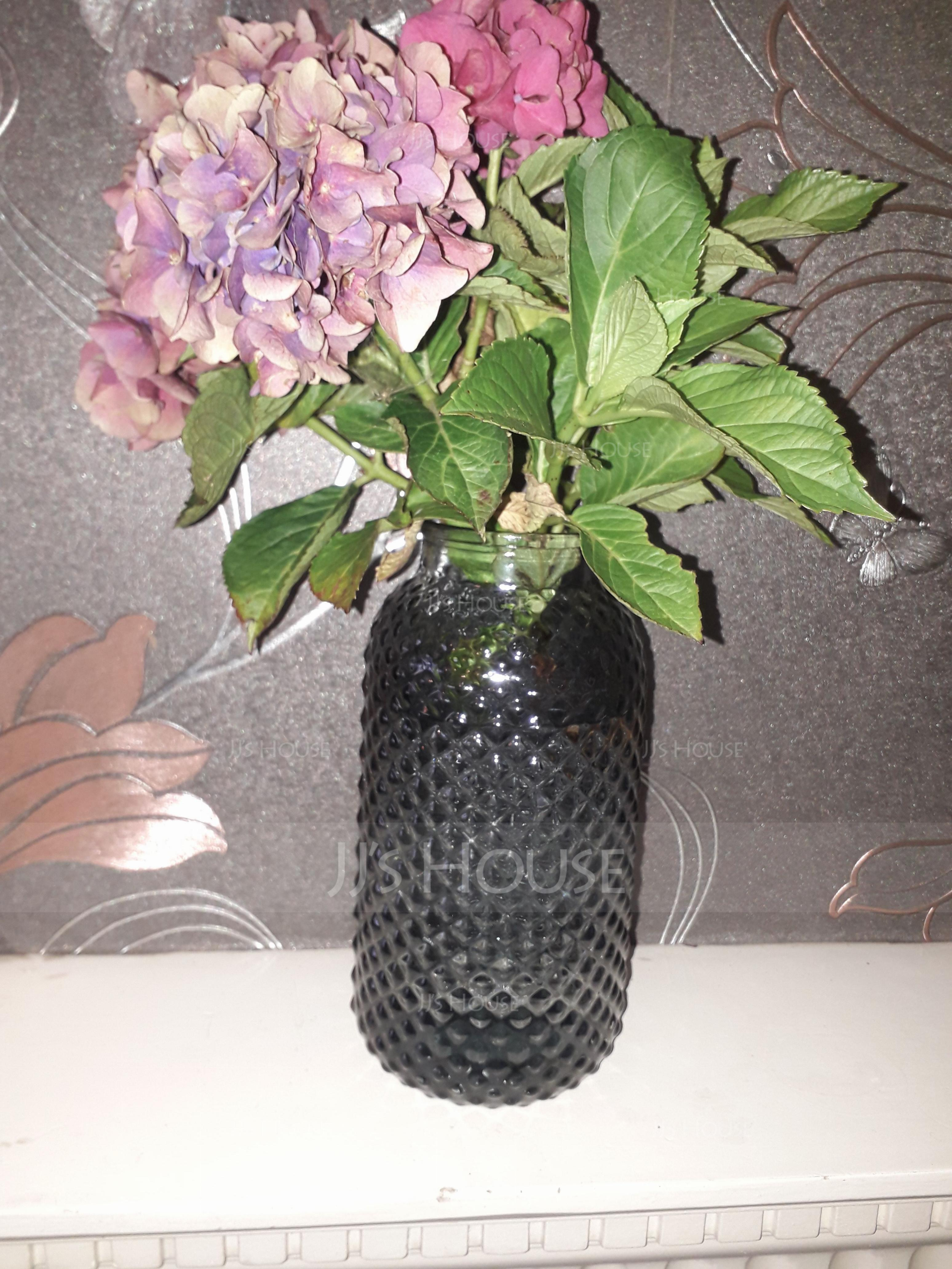 クラシック ソリッドカラー ガラス 花瓶