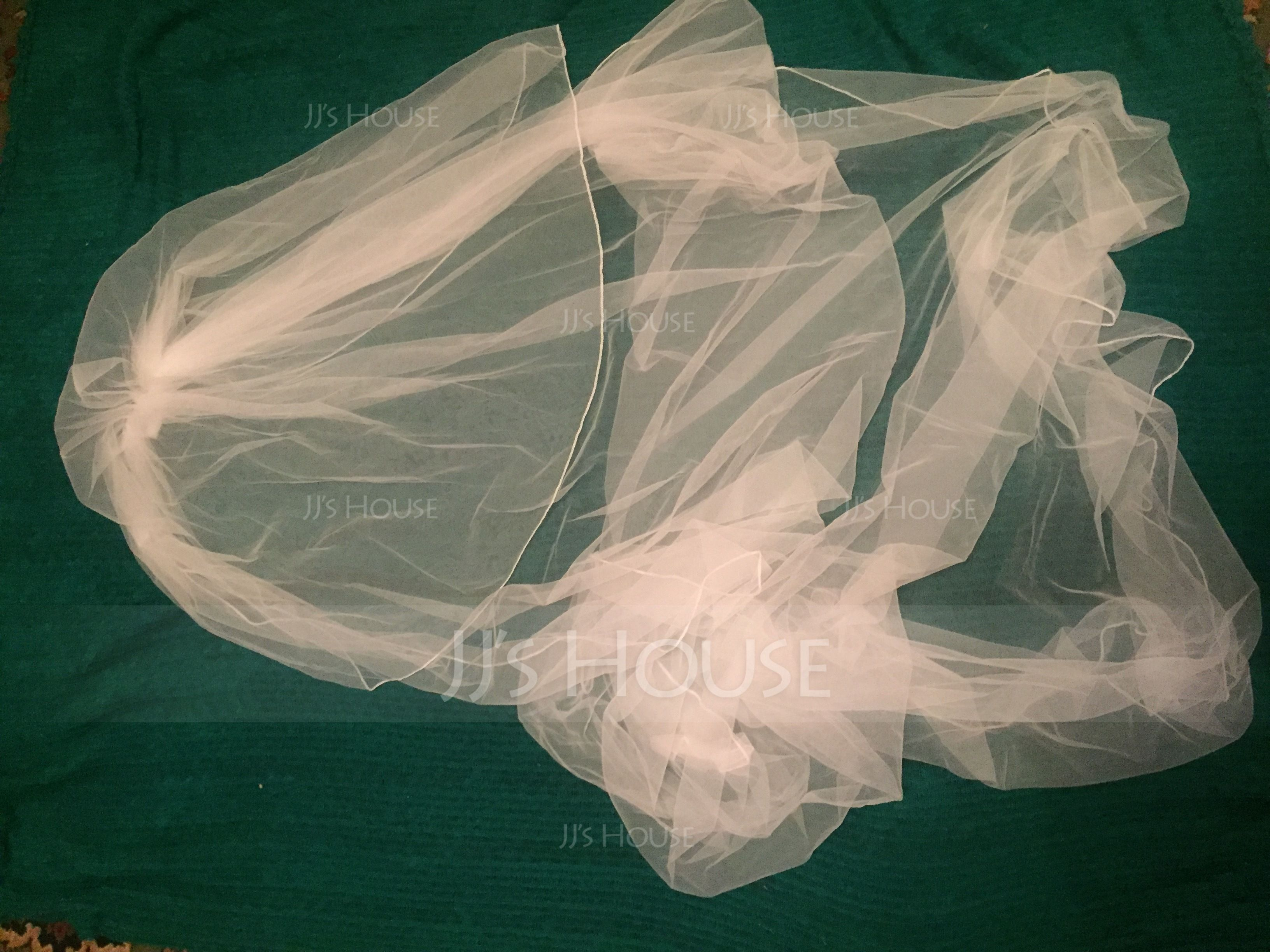 Two-tier Cut Edge Cathedral Bridal Veils (006114033)
