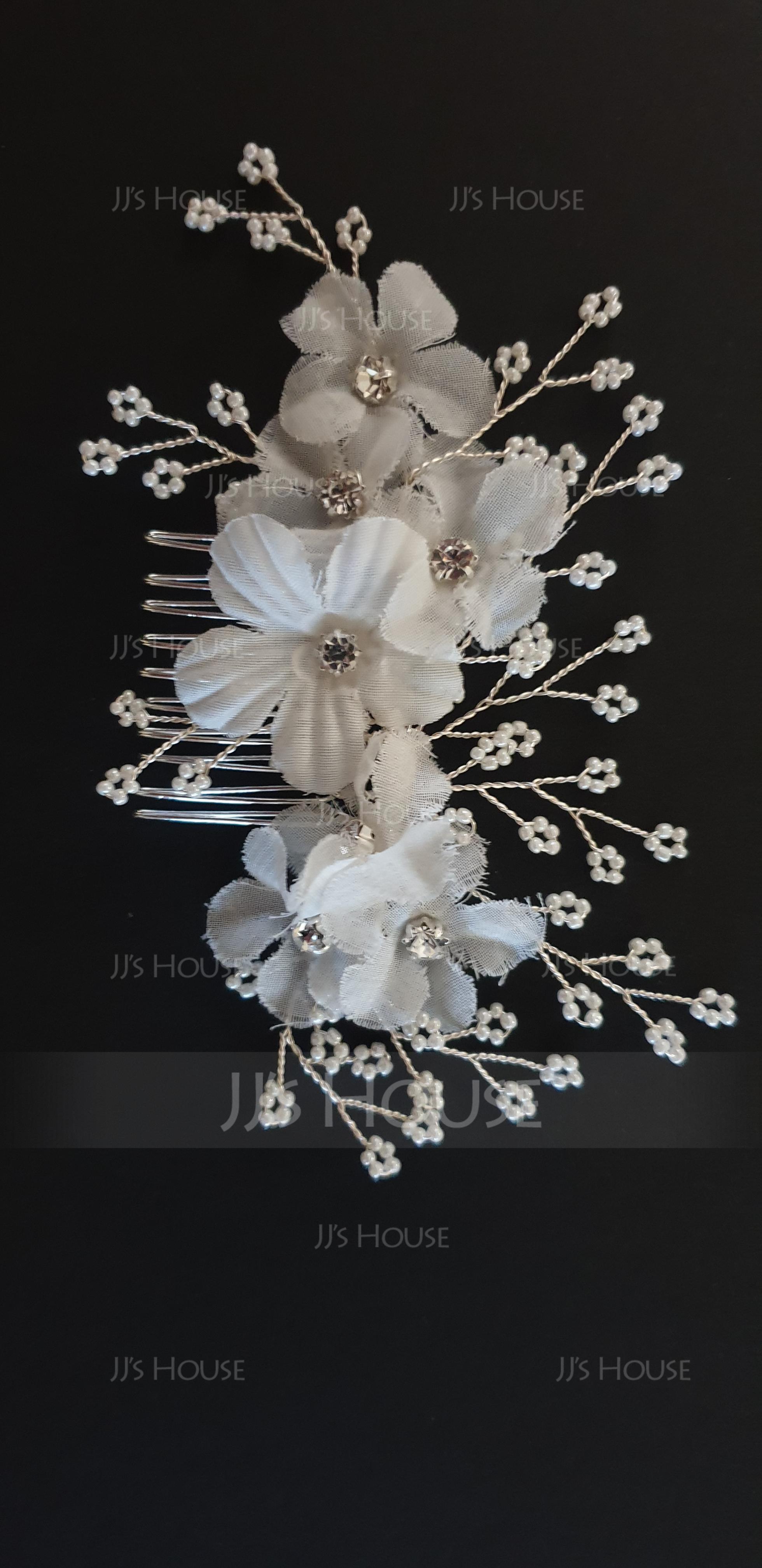 Filles Magnifique Fleur en soie Des peignes et barrettes avec Strass (Vendu dans une seule pièce) (042193006)